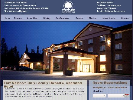 Woodlands Inn & Suites (250-774-6669) - Onglet de site Web - http://www.woodlandsinn.ca