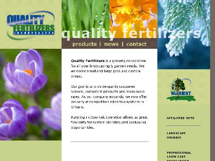Quality Fertilizers Inc (519-625-1166) - Onglet de site Web - http://www.qualityfertilizers.com