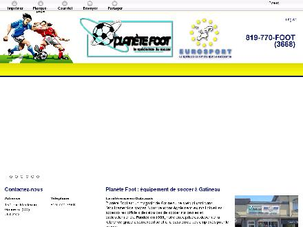 Plan&egrave;te Foot Eurosport (819-770-3668) - Onglet de site Web - http://planetefoot.ca