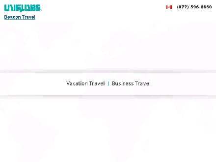 Uniglobe Beacon Travel (403-240-1331) - Website thumbnail - http://www.uniglobebeacon.com