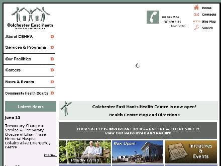South Cumberland Memorial Hospital (902-254-2540) - Onglet de site Web - http://www.cehha.nshealth.ca