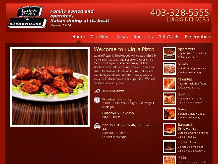 Luigis Pizza & Steak House Lethbridge North (403-328-5555) - Website thumbnail - http://www.luigispizza.ca