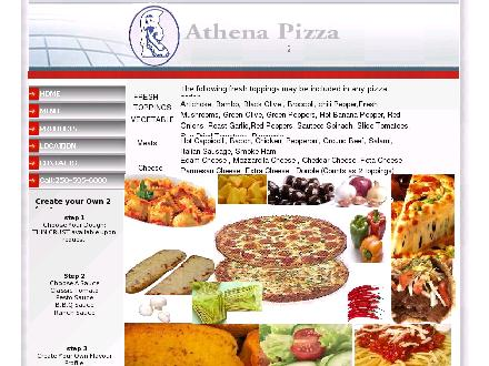 Athena's Place (250-595-6000) - Website thumbnail - http://www.athenapizza.net