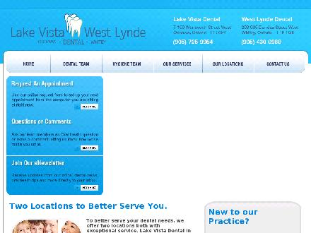 West Lynde Plaza Dental Office (905-430-0988) - Website thumbnail - http://www.westlyndedental.com