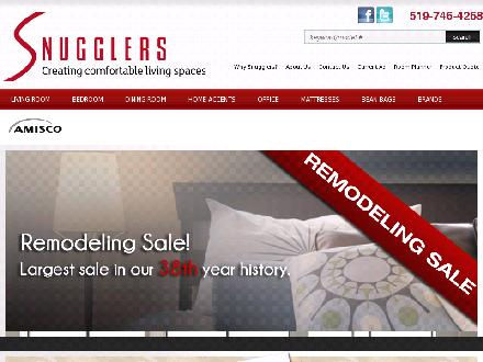 Snugglers (519-746-4268) - Website thumbnail - http://www.snugglersfurniture.com