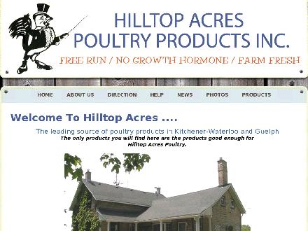 Hilltop Acres Poultry Products (519-743-6884) - Website thumbnail - http://www.hilltopacrespoultryproducts.com/