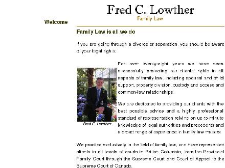 Fred C Lowther Family Law (604-682-6333) - Website thumbnail - http://www.divorce.bc.ca