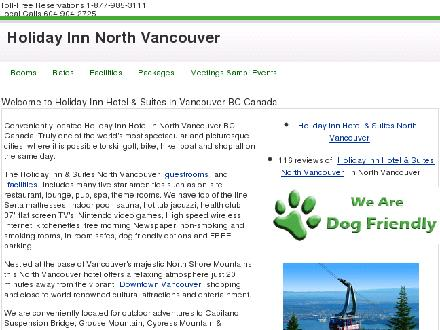 Holiday Inn Hotel & Suites North Vancouver (604-985-3111) - Website thumbnail - http://www.hinorthvancouver.com