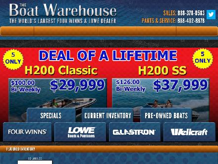 Boat Warehouse The (613-634-3416) - Website thumbnail - http://www.theboatwarehouse.com