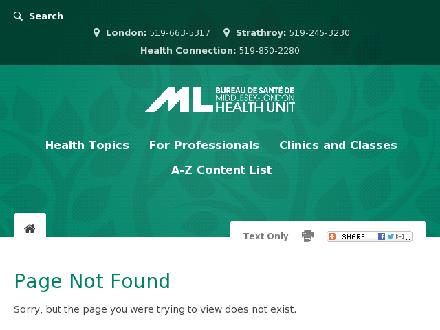 The Clinic Middlesex London Health Unit (519-663-5446) - Onglet de site Web - http://www.healthunit.com/TheClinic