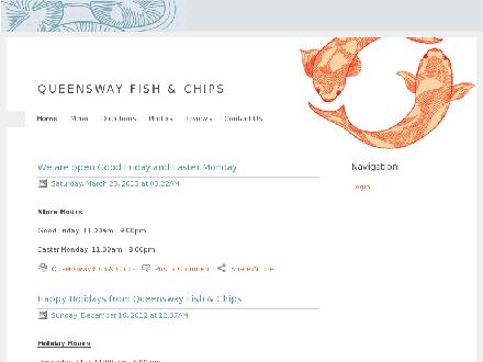 Queensway Fish And Chips (416-252-7061) - Website thumbnail - http://www.queenswayfishandchips.com/