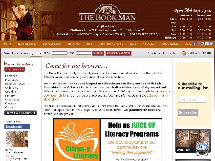 Book Man The (604-792-4595) - Website thumbnail - http://www.bookman.ca