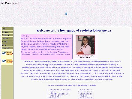 Levi Physiotherapy Inc (506-524-9118) - Website thumbnail - http://www.leviphysiotherapy.ca