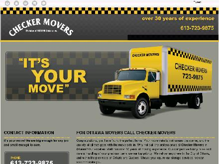 Checker Movers 2010 (613-604-0749) - Onglet de site Web - http://checkermovers.ca/