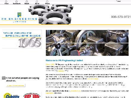 P R Engineering Limited (905-579-9721) - Website thumbnail - http://prengineering.ca/