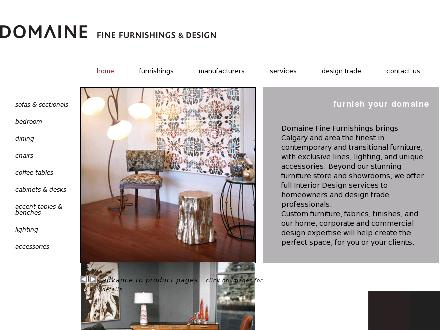 Domaine Fine Furnishings & Design (403-301-2339) - Onglet de site Web - http://www.domainefurnishings.com