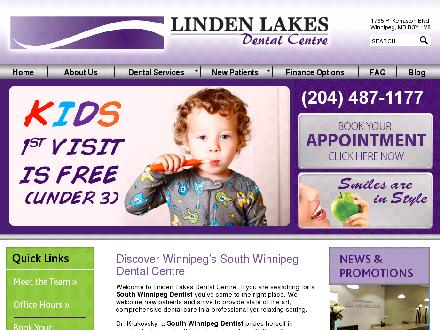 Linden Lakes Dental Centre (204-487-1177) - Website thumbnail - http://www.lindenlakesdental.ca