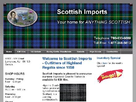 Scottish Imports Inc (780-433-6889) - Website thumbnail - http://www.anythingscottish.com