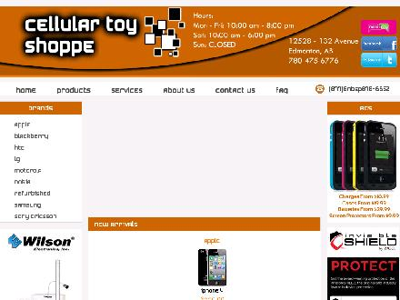 Cellular Toy Shoppe (780-475-6776) - Website thumbnail - http://www.cellulartoyz.com