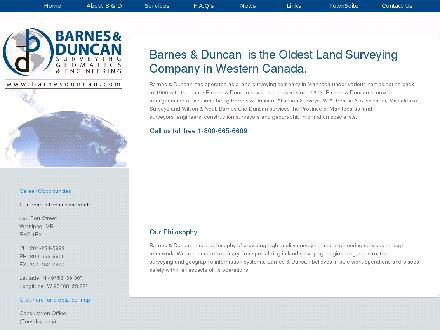 Barnes & Duncan Land Surveying & Engineering (204-284-5999) - Website thumbnail - http://www.barnesduncan.com