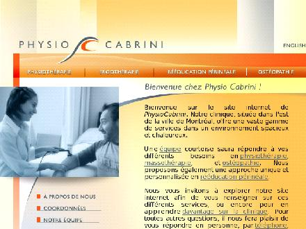 Physiothérapie Polyclinique Cabrini Inc (514-259-3791) - Website thumbnail - http://www.physiocabrini.com