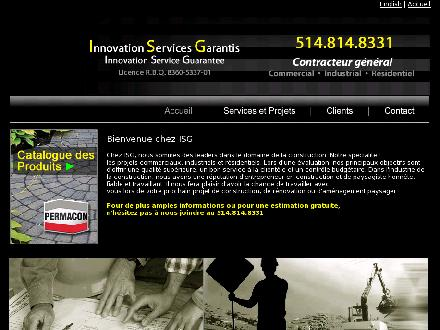 I S G Constructions Ventes &amp; D&eacute;veloppements (514-814-8331) - Onglet de site Web - http://www.isg-montreal.com