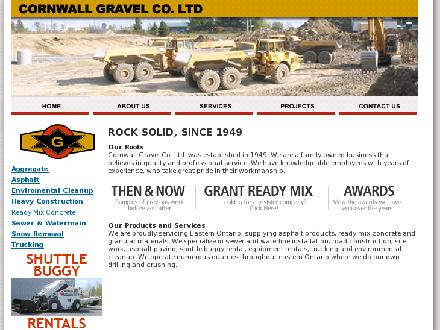 Grant Quarries (613-821-3904) - Website thumbnail - http://www.cornwallgravel.ca