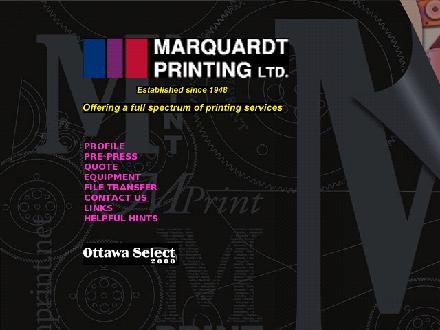 Marquardt Printing (613-569-9991) - Onglet de site Web - http://www.mprint.net