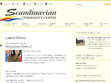 Scandinavian Community Centre (604-294-2777) - Onglet de site Web - http://www.scandinaviancentre.org