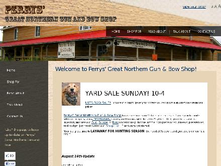 Perry's Gun Shop (705-759-8346) - Website thumbnail - http://www.perrysgreatnortherngunandbowshop.com