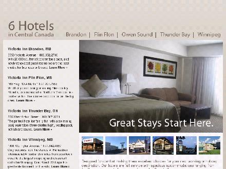 Victoria Inn Hotel & Convention Centre (204-725-1532) - Website thumbnail - http://www.vicinn.com