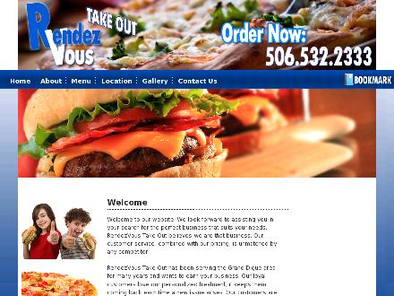 Rendez-Vous Take Out (506-532-2333) - Onglet de site Web - http://www.rendezvoustakeout.com