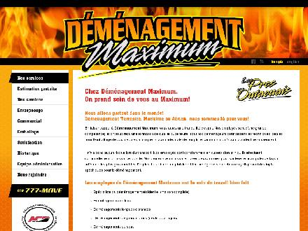 Maximum Moving (819-777-6683) - Onglet de site Web - http://www.demenagementmaximum.com