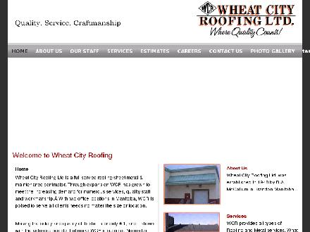 Wheat City Roofing Ltd (204-231-2765) - Onglet de site Web - http://www.wheatcityroofing.com