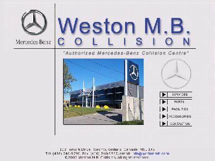 Weston M B Collision (416-740-8790) - Onglet de site Web - http://www.westonmb.com
