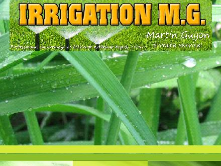 Irrigation MG (450-477-0444) - Onglet de site Web - http://www.irrigationmg.com