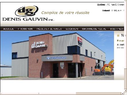 Gauvin Denis Inc (418-878-4007) - Website thumbnail - http://www.denisgauvin.ca