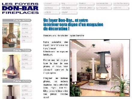 Les Foyers Don-Bar Fireplaces (418-686-9114) - Onglet de site Web - http://www.don-bar.com