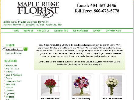 Maple Ridge Florist Ltd (604-467-3456) - Onglet de site Web - http://www.mapleridgeflorist.ca