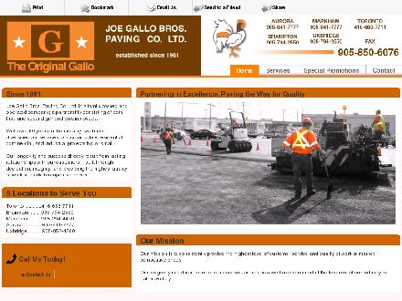 Joe Gallo Bros Paving Co Ltd (416-663-7711) - Onglet de site Web - http://gallobrospaving.com