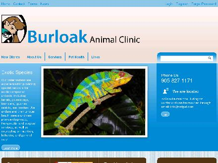 Burloak Animal Clinic (905-827-1171) - Website thumbnail - http://www.vetpet.com