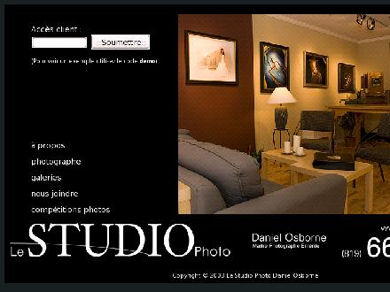 Le Studio Photo Daniel Osborne (819-663-2742) - Onglet de site Web - http://www.lestudiophoto.ca