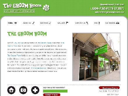Groom Room Pet Salon & Day Care The (604-732-7387) - Website thumbnail - http://www.thegroomroom.ca