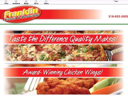 Franklin Pizzeria And Restaurant (At Franklin) (519-893-0955) - Website thumbnail - http://franklinpizza.ca