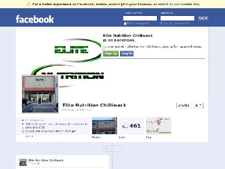 Elite Nutrition (604-846-5725) - Onglet de site Web - http://www.facebook.com/EliteNutritionChilliwack
