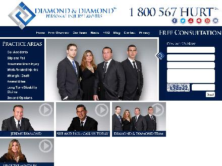 Diamond &amp; Diamond Legal Personal Injury Lawyers (647-977-9898) - Onglet de site Web - http://www.diamondlaw.ca