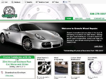 Green's Wheel Repair Shop (604-278-5937) - Website thumbnail - http://greensautomotive.com/