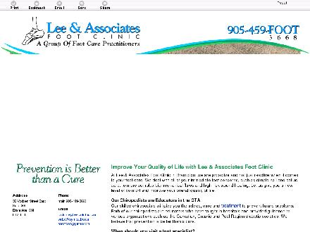 Lee & Associates Foot Clinic (905-459-3668) - Website thumbnail - http://leefootclinic.com/