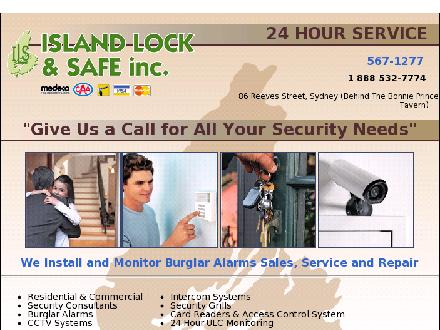 Island Lock &amp; Safe Inc (1-888-254-7952) - Onglet de site Web - http://www.islandlock.ca