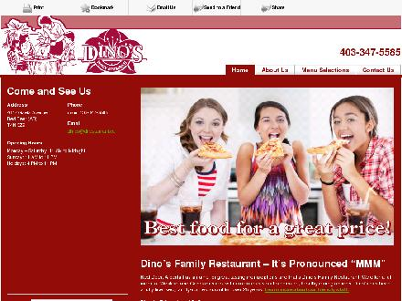 Dino's Family Restaurant (403-347-5585) - Website thumbnail - http://dfrestaurant.ca/